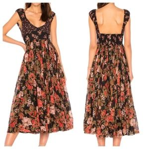 Free People Midi Dress Love You Floral